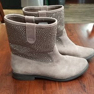 Naughty Monkey blinged out suede boots size 6